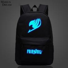 Mara's Dream Fairy Tail рюкзак Япония аниме печать школьная сумка для подростков мультфильм дорожная сумка холст мода Mochila Galaxia