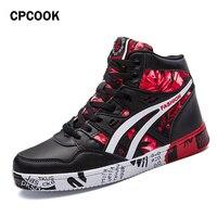 CPCOOK 2018 Men Skateboard Shoes Autumn Hip Hop Leather Sneakers Men Lace up Athletic Sport Shoes Zapatillas Hombre Deportiva