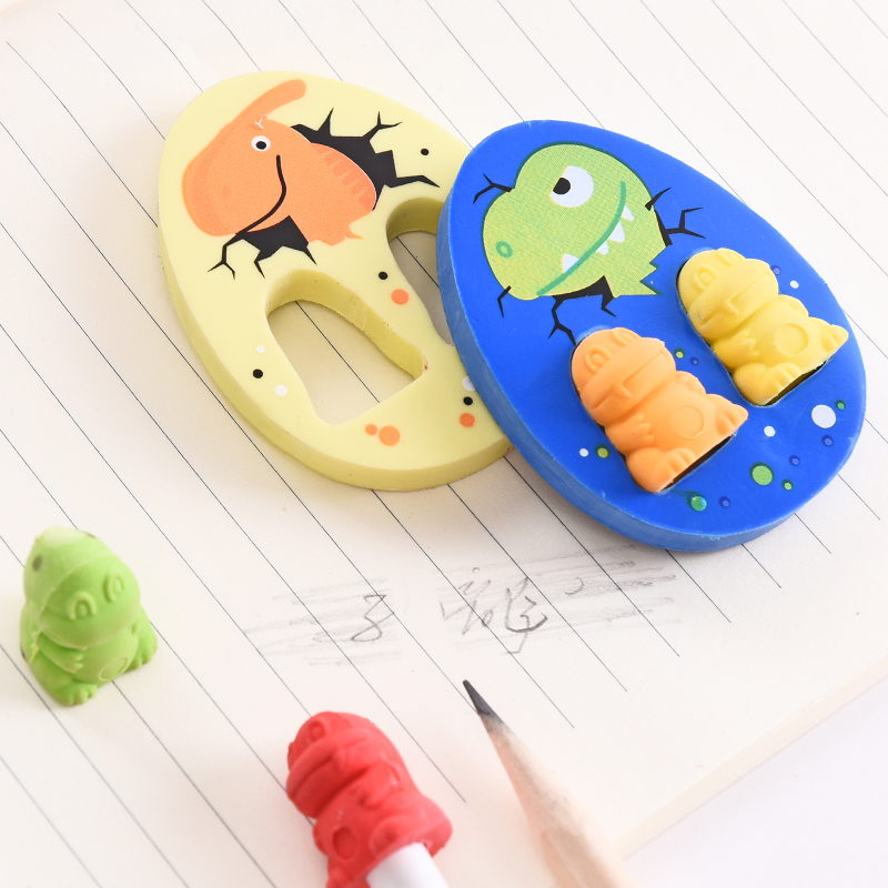 5 Packs/lot Lovely Baby Dinosaur Eggs Eraser Creative Cartoon Mini Erasers Children Learning Gifts Office Stationery Eraser