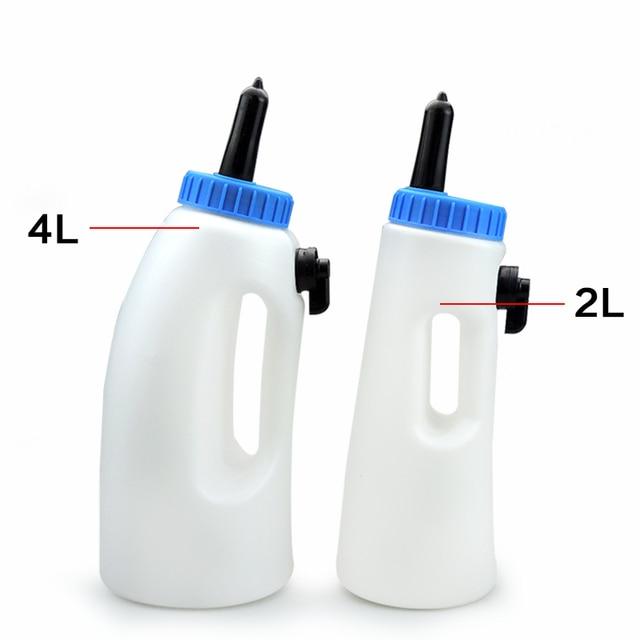 Cow Nursing Calf Milk Bottle Replacement Rearing Drinker Feeding Calf Cow Milk Feeder Bottle Holders Bucket Pot Screw Nipple