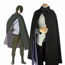 Anime BORUTO NARUTO film Uchiha Sasuke pelerin takım elbise Naruto Cosplay kostüm kadın erkek cadılar bayramı partisi tam Set üniforma takım elbise