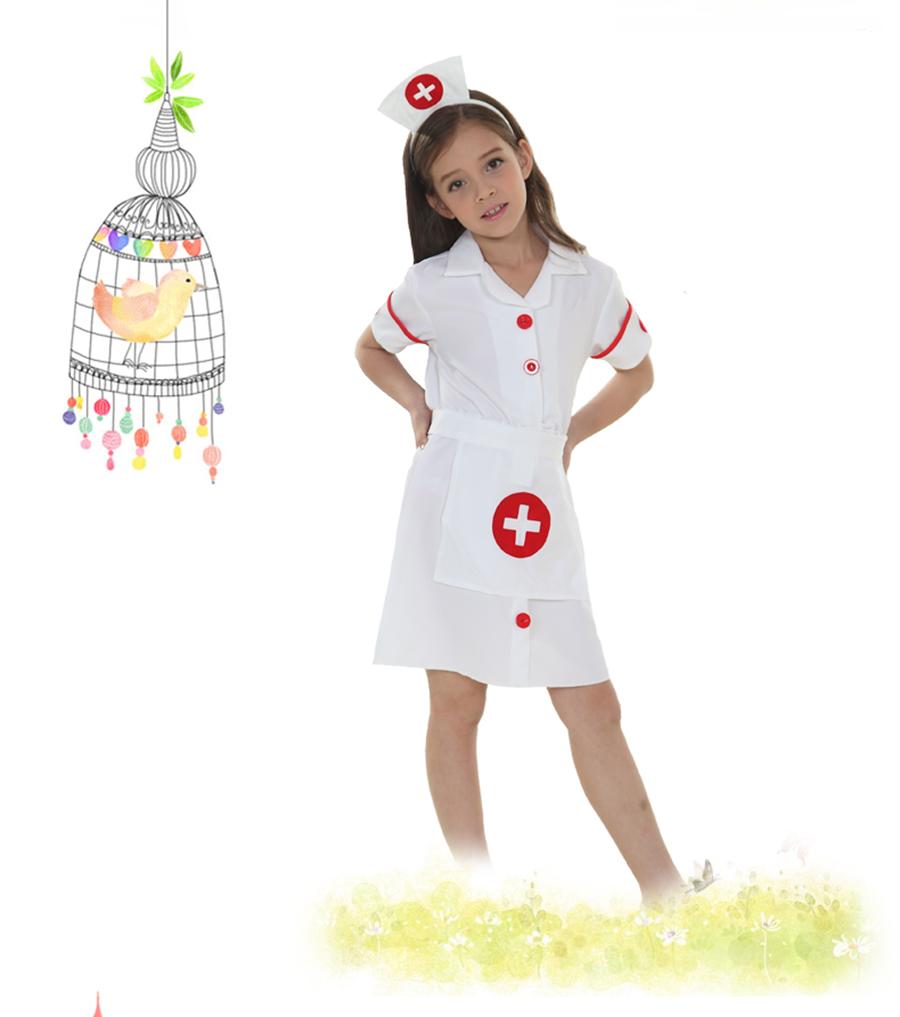 61cc2b1a8b Fancy Kids Christmas Cosplay Costume Doctor Costume Little Nurse ...