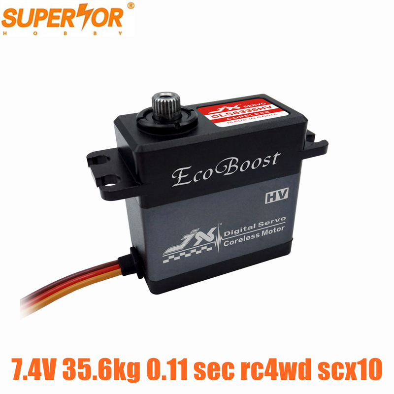 JX CLS6336HV 35.6 კგ 7.4V ალუმი. Shell Metal Gear Coreless Digital Servo for rc4wd scx10 1/8 RC მანქანის crawler buggy