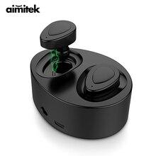 Aimitek K2 Bluetooth Earphones TWS Earbuds True Wireless Headsets Stereo Music Handsfree With Microphone Power Bank Charging Box