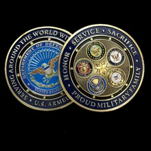 munten plated militaire ambachten