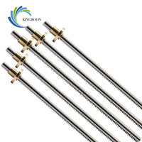 t8-lead-screw-od-8mm-pitch-2mm-lead-2mm-150mm-200mm-250mm-300mm-330mm-350mm-400mm-500mm-with-brass-nut-for-reprap-3d-printer