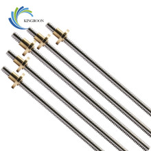T8 Lead Screw OD 8mm Pitch 2mm Lead 2mm 150mm 200mm 250mm 300mm 330mm 350mm 400mm 500mm With Brass Nut For Reprap 3D Printer(China)