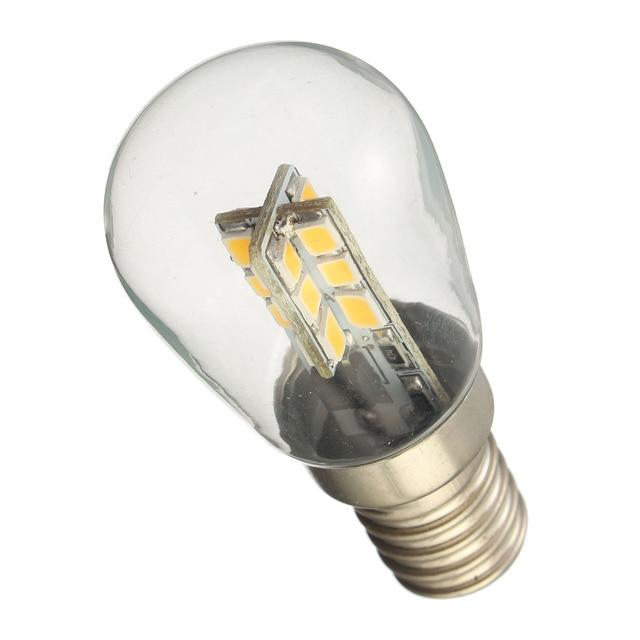 E14 3014 SMD 24 LED 3W High Bright Silica Gel Light Lamp Bulb For Refrigerator Sewing Machine Pure Warm White 220V