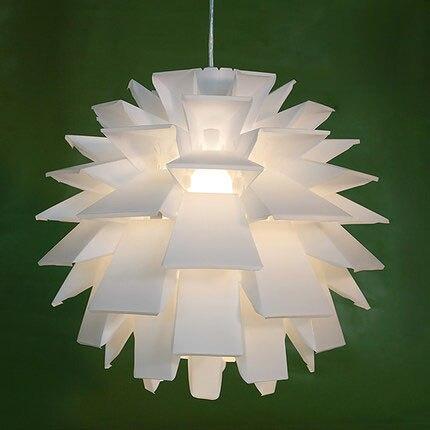 Creatieve Nordic Wit Pvc Hanglamp Dennenappel Pp Lotus Hanglamp Opknoping Decoratie Ofhead Cover Voor Slaapkamer Home Verlichting Van Het Grootste Gemak