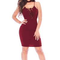 Summer 2017 New Sleeveless Halter Neck Pencil Dress Women Sexy Solid Bandage Hollow Out Package Hip Club Bodycon Vestidos
