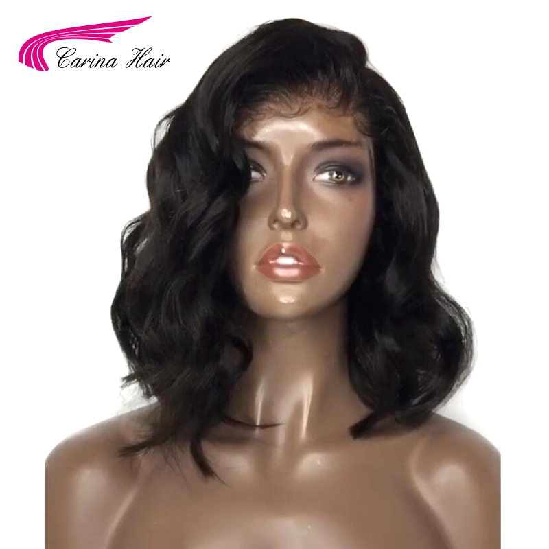Carina Malaysian Body Wave Lace Front Wigs with Baby Hair Remy Human Hair Pre Plucked Hairline