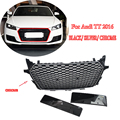 Front Bumper Grill ABS TTRS Style for AUDI TT Europe Version 2015-2016 Chrome Frame Black Mesh Honeycomb Grille Car Styling