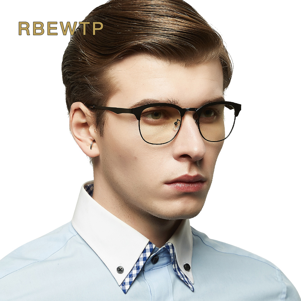 RBEWTP Brand Blue Light Blocking Glasses led Reading Glasses Radiation-resistant Clear Computer Gaming eyeGlasses Frame Eyewear