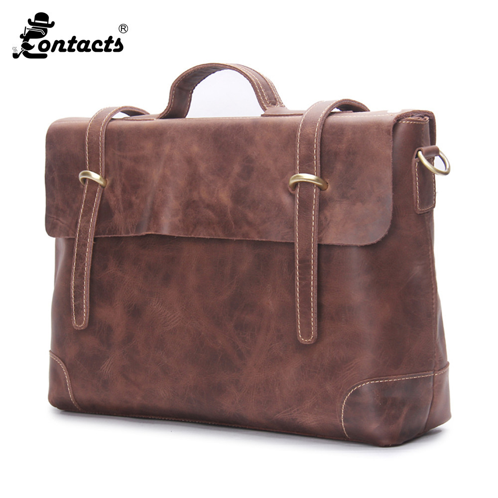 Contact's Men Handbag Genuine Leather Men Bags casual men's Messenger Bag flap Shoulder Crossbody Bags Casual Men Handbags neweekend genuine leather bag men bags shoulder crossbody bags messenger small flap casual handbags male leather bag new 5867