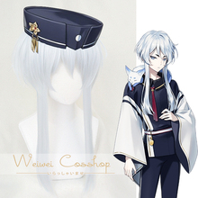Touken Ranbu Online Hakusan Yoshimitsu Silver Wig Cosplay Synthetic Hair for Adult