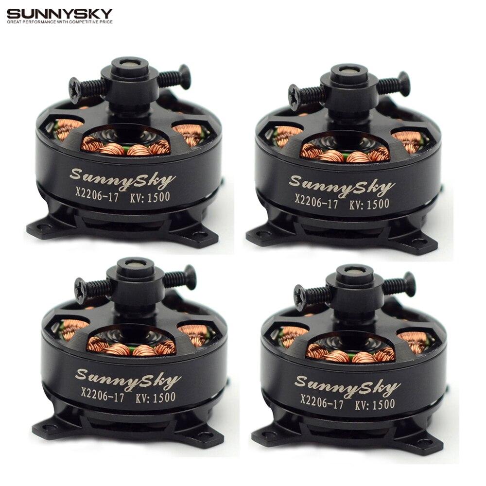 4 unids/lote Sunnysky X2206 1500KV 1900KV Outrunner Motor sin escobillas 2206 RC Quadcopter de Multicopter