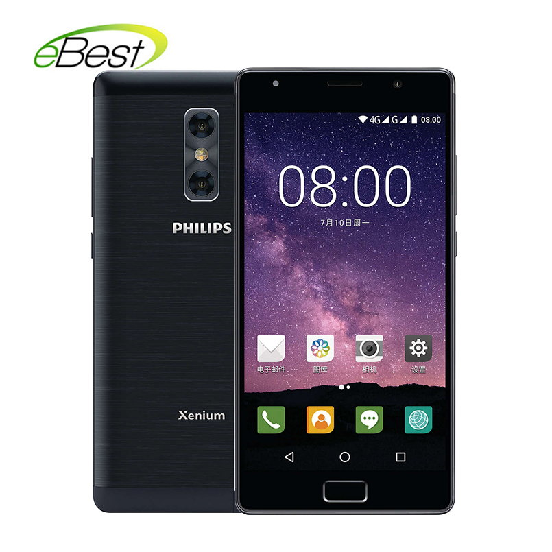 Brave Philips Xenium X598 5.5 Inch Android Smartphone Mt6750 Octa Core 4gb + 64gb 4000mah 13mp Dual Camera 4g Lte Mobile Phone