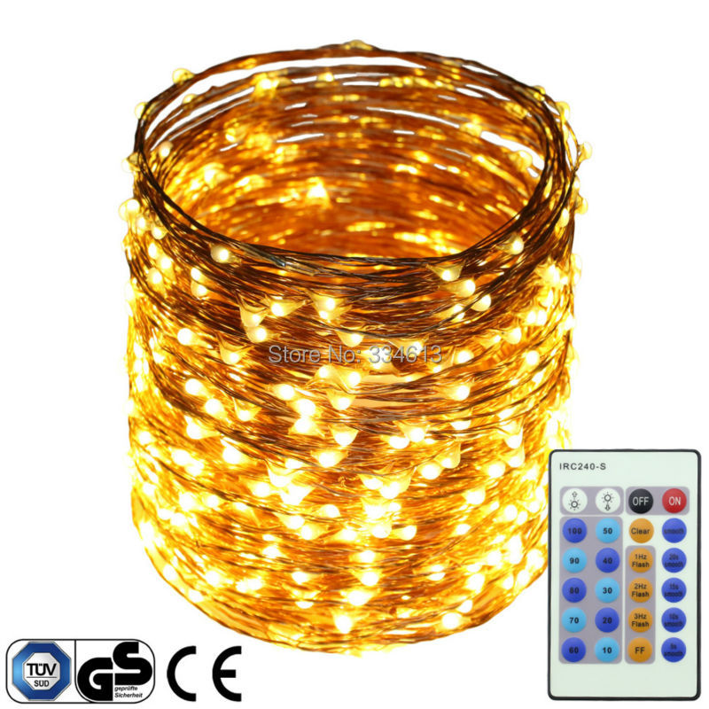 50M 500LEDs Copper Wire Fairy Lights Multi Color LED String Lights Xmas Flash Dimmable Starry Lights + Certified CE UL Adapter 3 10m series and parallel 99ft 300 led waterproof warm white led string fairy starry light copper wire plug adapter powered