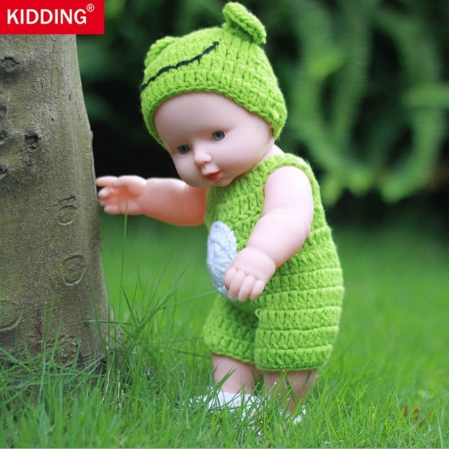 KIDDING BRAND 30cm Reborn Baby Doll Soft Vinyl Silicone Lifelike Alive Babies Toys For Kids Girls Birthday Chirstmas Gift KF097