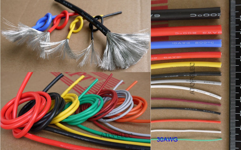 Black/Red 1/0 AWG 1/0 Gauge 20 Black Plus 20 Red Welding Battery Pure Copper Flexible Cable Wire 1-0G 20B+20R WindyNation 1-0-AWG-20B-20R