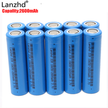 10PCS 18650 Battery For samsung 18650 Batteries rechargeable Battery lithium 3.7v Li-ion Battery Real Full Capacity 2600MAH