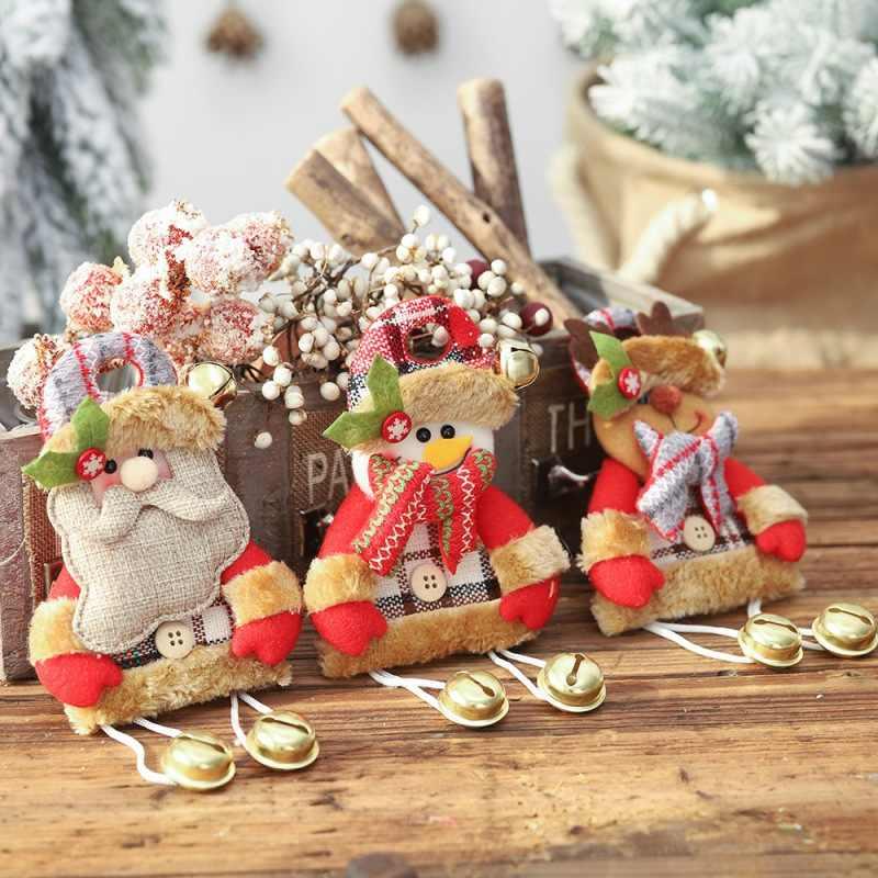 Рождественские украшения, подвески для дома treeукрашения ткань кукла танцы Санта Клаус Снеговик Олень Медведь подвесной кулон подарок