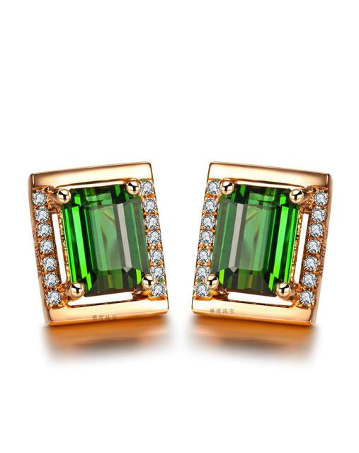 stud products of yellow grande copy earrings gold green rustic tourmaline lisadescampsjewelry diamond