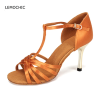 LEMOCHIC Soft Sole Latin Samba Jazz Rumba Ballroom Dance Adult Women Professional High Heels Comfortable Performance