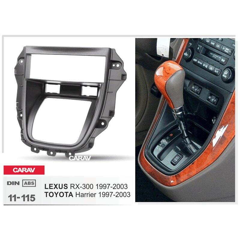 TOYOTA Harrier 1 DIN Car Radio Stereo Frame Fascia Dash Kit for LEXUS RX-300