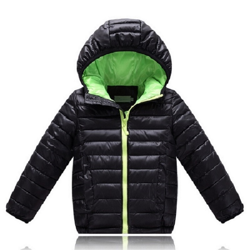 Children's Outerwear Boy& Girl Winter Warm Hooded Coat Children Cotton-Padded Clothes boy Down Jacket kid Sport jackets 5-12 yrs