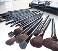 15 pcs/Set Professional Cosmetic Makeup Brushes Set Kit Case Black Leather Face Care Make Up Brushes