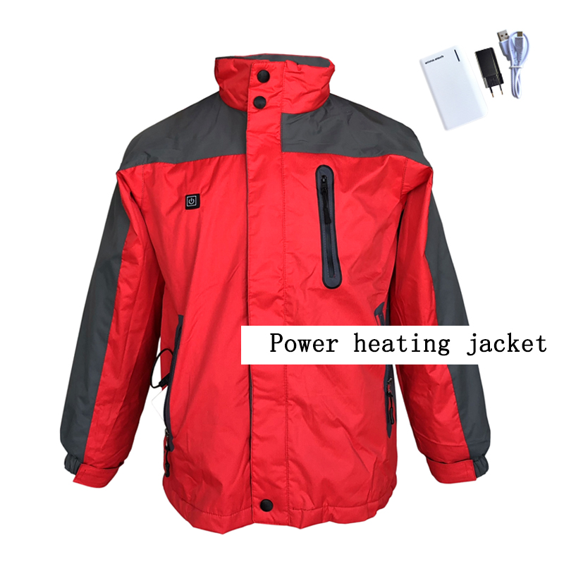 NEW USB POWER heated Jacket Winter Ski camping jackets Windproof Waterproof Thermal  for women men jacket size s-xxxl winter jackets thermal thicken jacket outdoor sports ski jackets camping coat waterproof windproof climbing jacket for mans