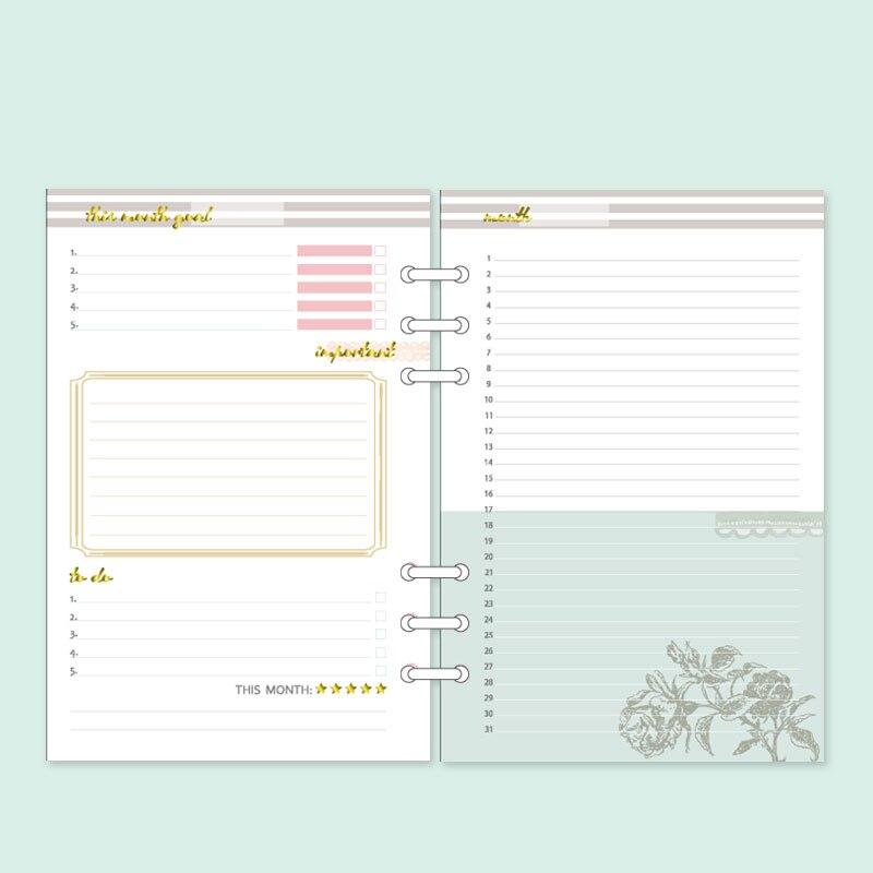 Dokibook Notebook Spiral Planner 6 Delikli Yarpaq A5 və A6 Cədvəli - Qeyd kitabçaları - Fotoqrafiya 3