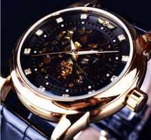 hot Royal Diamond font b Design b font Black Gold Watch Montre Homme Mens Watches font