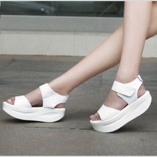 1fec0c9a9703 NEW SUMMER all-match women platform sandals korean style oppen peep toes  Roman Shoes women s wedge high heel sandals PP021