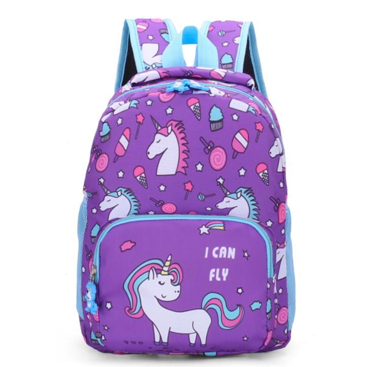 New Printed Children School Bag Cute Cartoon Unicorn Kids Bags Kindergarten Backpack For Boys Girls Baby School Bags