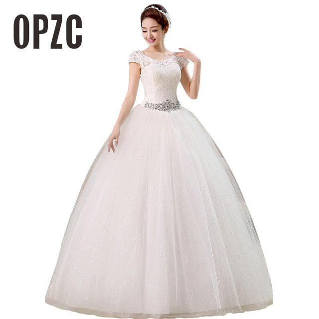 Free Shipping 2016 New Arrival Korean Style Wedding Dresses White Romantic Gown Fashionable Bride