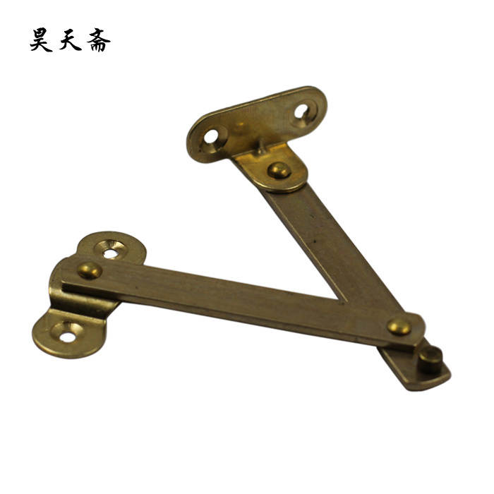 [Haotian vegetarian] Chinese antique wooden cradle copper fittings Zhangmu Xiang box support brace HTN-095 S купить