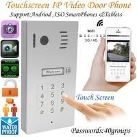 Сенсорный экран Глобальный беспроводной видео телефон двери Wi Fi дверные звонки домофон цифровой камера смартфона управление ночное видени