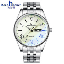 Relojes hombre Top brand Quartz Watch men Casual Business keepintouch Stainless Steel Analog luminous Watch Men's Relogio gift