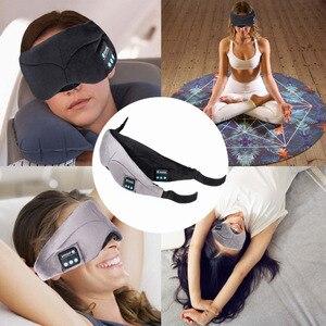 Image 3 - JINSERTA Bluetooth casque sommeil oeil masque sans fil musique Bluetooth sommeil yeux nuances casque Support mains libres lavable