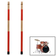 1 Pair Drum Brushes Jazz Drum-Sticks Percussion Red Set Made Of Bamboo 40CM