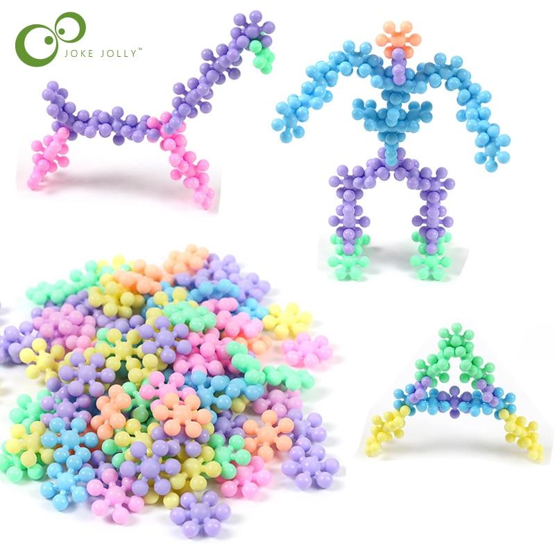30PCS/LOT Plum Blossom Building Blocks Toys Shape Interlocking Popular Creative Baby Kids Educational Gift DIY Toys WYQ Popular Toys cb5feb1b7314637725a2e7: Bright color Macaron Color