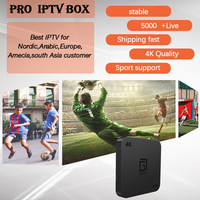 Hotsale Nordic Netherlands Isreal IPTV Pro IPTV 5000Live+GOTIT S905 Android TV Box Amlogic S905W Quad Core 2G/16G 4K Set Top Box