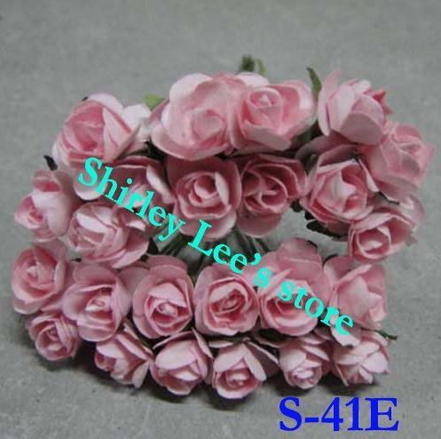 Wholesale--144 bunches=1728pcs tiny  paper rose ,craft supplies, for scrapbook ,card making(Free Shipping by Express)