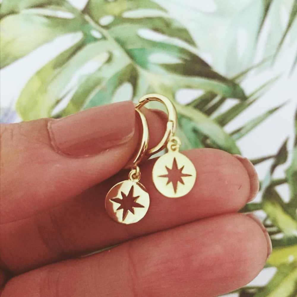 Artilady Star Hoop Earrings for Women Small Gold Hoop Earrings jewelry Endless  Earrings gift Drop shipping