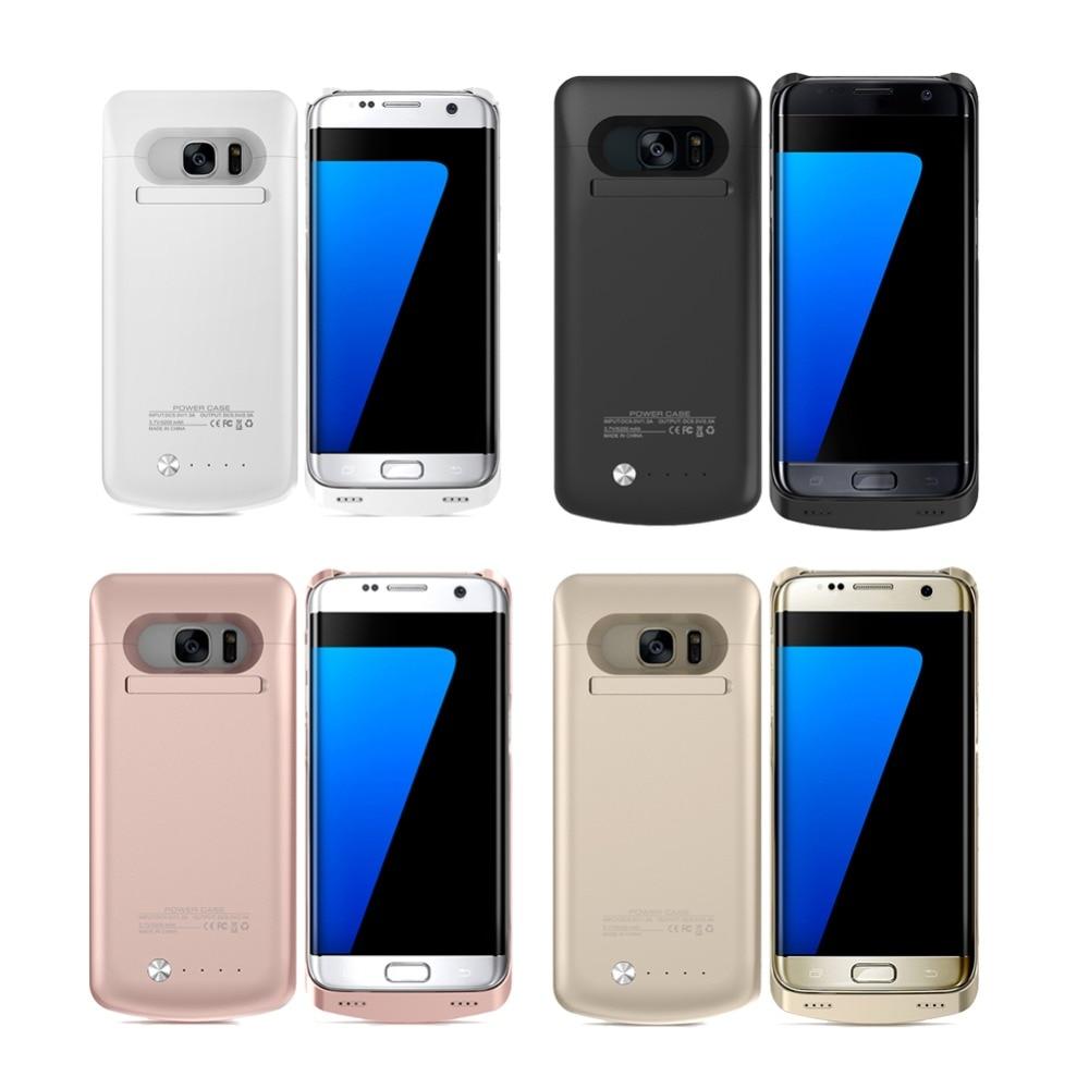 bilder für 5200 mah telefon power case für samsung galaxy s7edge portable externe strom fall ladegerät s7edge backup ladegerät fällen