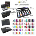 GDCOCO NEW color gel polish Mini sets kit 6pcs color + top base coat + LED light torch + file 10pcs Box