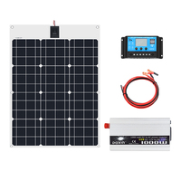 50W 12V Solar Panel 1000W Inverter 220V or 110V PWM 10A Charge Controller Battery Charger Panel solar Kit system Home outdoor