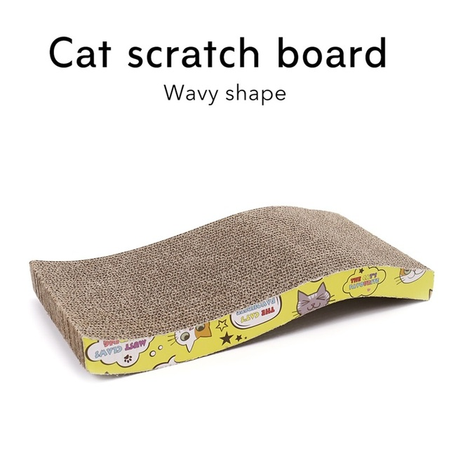 Corrugated Paper Cats Scratch Board Grinding Nails Interactive Protecting Furniture Cat Toy Large Size Cat Scratcher Toy